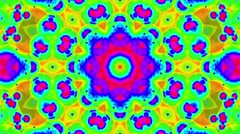 Psychedelic Colorful Kaleidoscope VJ background loop 2 Stock Footage