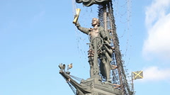 Peter the Great Statue Stock Footage