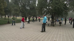 Morning exercises in Beijing 2 Stock Footage