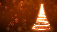 Yellow Strokes Christmas Tree Stock Footage