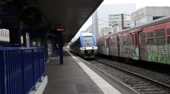 The train station in Grenoble France 3 Stock Footage