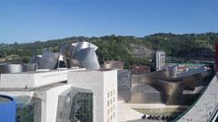 4k guggenheim museuem art gallery bilbao spain basque Stock Footage
