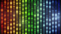 Glowing colorful christmas beads loopable background Stock Footage