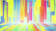 Moving multicolor rectangulars loopable background Stock Footage