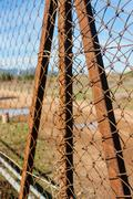 rusted wire netting - stock photo
