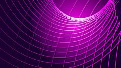 Line waves abstract vector motion hot pink background Stock Footage