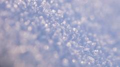Texture of snow backlight sun Stock Footage