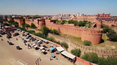 High angle view of Junagarh Fort in Bikaner, Rajasthan, India Stock Footage