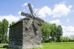 Wooden mill Stock Photos