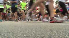 Stock Video Footage of Marathon Medium Shot