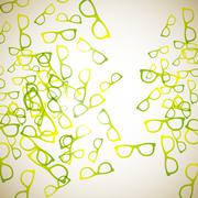 Abstract background: glasses Stock Illustration