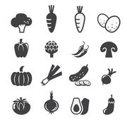 vegetables icon set - stock illustration