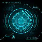 Hud Futuristic Background Piirros