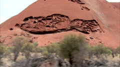 Magic of Aboriginal Uluru Stock Footage