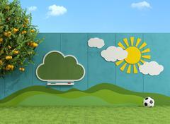 Garden for children Stock Illustration