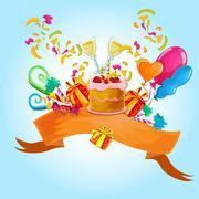 Celebration colored background Stock Illustration