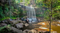 Tropical waterfall - stock footage