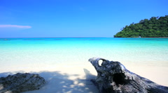 Tropical sand beach andaman sea southern of Thailand. Stock Footage