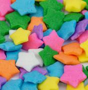 multi colored stars sprinkles - stock photo