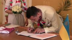 signature groom - stock footage