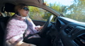 woman driving.  Female, miss, lady driver in car HD Footage