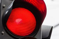 Traffic light with red light Stock Photos