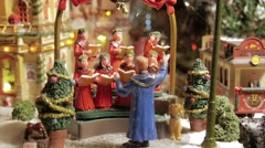 Christmas Toys. Model Village. - stock footage
