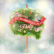 Christmas fir tree - Bubble for speech. EPS 10 Stock Illustration