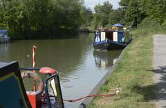 kennet and avon canal at devizes. england - stock photo
