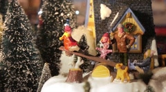 Christmas Toys. Model Village. - stock footage