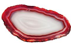 Agate with chalcedony geological crystal Stock Photos