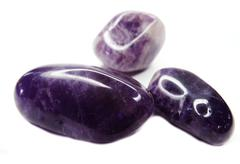 Amethyst geode geological crystals Stock Photos