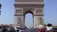 Paris, Arc de Triomphe, Champs-Élysées 002 Stock Footage