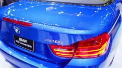 Bmw cars at the Motor Expo Stock Footage