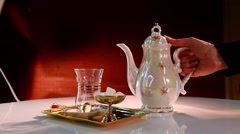 Persian Tea Stock Footage