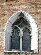 an old and ancient beautiful window - italia - stock photo