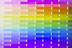 Vector colour card (paper) with various colors Stock Photos