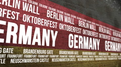 German Flag Tourism Attractions Banner Stock Footage