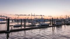 Port of Hamburg Hyperlapse - stock footage