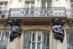 Art deco building, Paris - stock photo