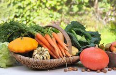 seasonal vegetables - stock photo