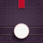 Stock Illustration of square ornaments banner red flag emblem