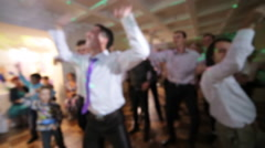 many people dancing in a disco - stock footage