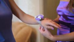 Marriage, Girlfriends of the bride Stock Footage