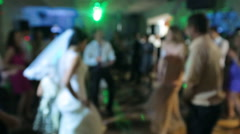 Stock Video Footage of  Marriage, wedding, Bride and many people dance