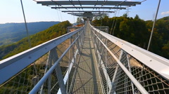 Direct passage over the bridge with the rotation Stock Footage
