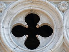 venice - tracery from the doge's palace - stock photo