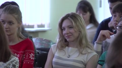 Students in the audience, Close-up - stock footage