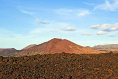 Volcano in timanfaya national park in lanzarote, spain Kuvituskuvat