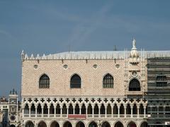 The facade of doges palace -venice. italy Stock Photos